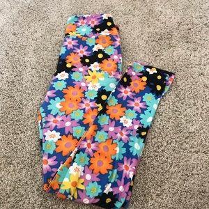 Colorful, floral Lularoe leggings